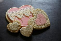 Lace Valentine Cookies