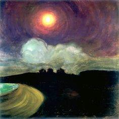 Mirroir:Gustaw Gwozdecki  Moon C. 1908