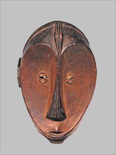Masque facial Ngbaka (Musée du Quai Branly)