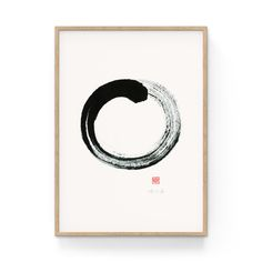 Unpretenious · Original Enso drawing with Sumi ink on Xuan rice paper · x Sumi Ink, Art Series, Rice Paper, A4, Symbols, Letters, Abstract, Drawings, Painting