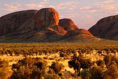 The Olga Rocks in Uluru National Park at sunrise. Photo: Keren Su