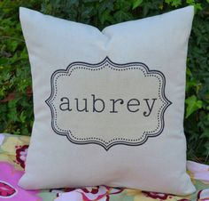 Personalized pillow baby gift children's pillow by FeatherHen, $23.00  we can do a pillow like this for Ayslin?