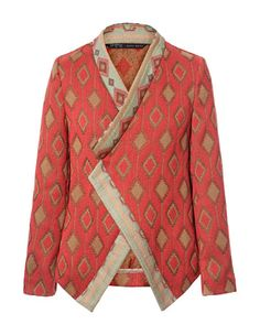 This is beautiful.     JACQUARD PATTERN CROSSOVER BLAZER - Blazers - Woman - ZARA United States