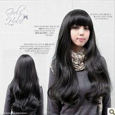 Fashion Girl's Long Party Wig (Model: Jf010244) (Black) by cool2day. $17.97. Please kindly note it's not REAL PERSON HAIR , the model wearing WIG is just for show. Color: Black. Sweet LONG Black Curly wavy Cosplay Hair Wig WA72