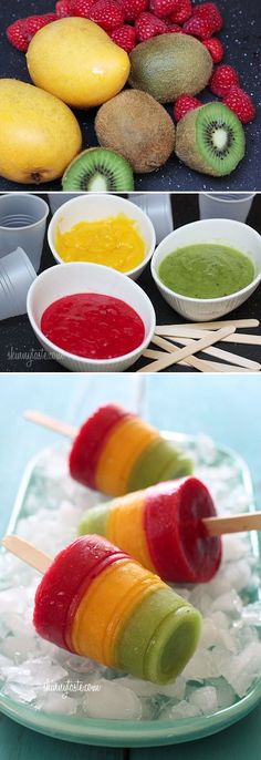 Fresh Fruit Pops For the kiddies Do you think they will notice the Healthy? Auntie will try them first !