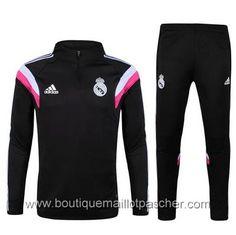 Survêtement de foot Adidas formation Real Madrid 2015 Noir