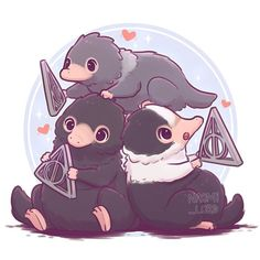 ✨💕Drawing the marauders reminded me of the chibi animal series I drew last … - Hogwarts Harry Potter Fan Art, Mundo Harry Potter, Cute Harry Potter, Harry Potter Drawings, Harry Potter Universal, Harry Potter Memes, Harry Potter World, Kawaii Drawings, Cute Drawings