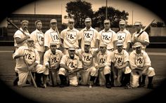 The Wyandotte Museums' Vintage Base Ball Club, the Wyandotte Stars!  Check out the link above for more info on their 2012 matches and events.