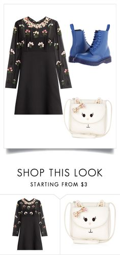""""""""""" by pink1dmz ❤ liked on Polyvore featuring Valentino, Monsoon and Dr. Martens"""