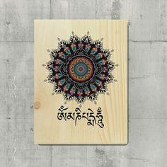 om mani padme hum mandala wall art sacred geometry by Liedroom