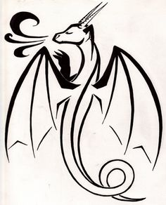 Simple Dragon Tattoo by TsukiTsu.deviantart.com on @deviantART as charm.  This one is cute