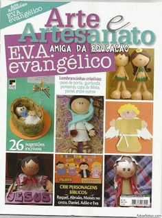 MOLDES DE E.V.A: Amiga da Educação 2: REVISTA ARTE E ARTESANATO E.V.A EVANGÉLICO.