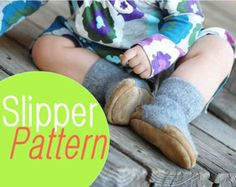 Sewing Pattern for Baby Wool Felt Shoes, Tutorial PDF Digital Download    Want to be kind to the earth? Or maybe you want to tailor a special pair of slippers for yourself or as a gift? This pattern will help you turn old clothes into a unique pair of slippers! I developed these patterns myself and sold over 5000 pairs of slippers. Now you can make this popular design yourself in just a couple of hours!    Style: low-topped slipper shoes (with or without leather heel and toe caps, as shown…