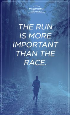 The #run is more important than the race. #exercise