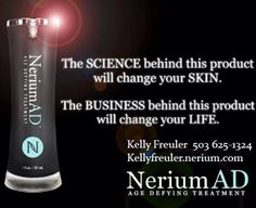 Colleen Bentley – Brand Partner- Nerium International NeriumAD is a blend of some of the most effective ingredients in the skincare industry, already known to show age defying benefits. www.colbentley.arealbreakthrough.com