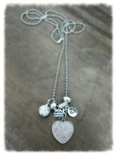 M-Brace sieraden - Ketting met rozenkwarts hanger