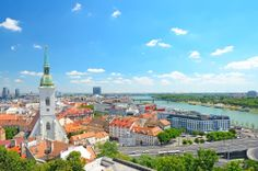 Photo about Bratislava, Slovakia, top view of city. Image of historic, tourism, house - 35260813 Destinations, Bratislava Slovakia, Top View, Austria, Paris Skyline, Tourism, Europe, Stock Photos, Travel