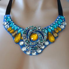 You cant help but LOVE this Jeweled necklace bib. My wallet-friendly statement necklaces can dress up something as simple as a white t-shirt and get same