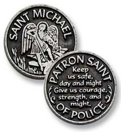 St. Michael pocket coin. This would be perfect for my son. I made him a CATHOLIC prayer book that fits in his pocket and carries with him at all times. He can also carry this coin