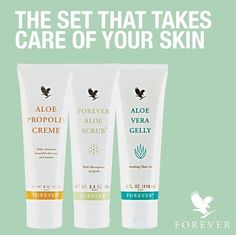 --Aloe Vera Gelly for the treatment of skin problems as acne - eczema psoriasis - inflammation of the skin - burns. --Aloe Scrub is peeled to face and body and removes blackheads. --Aloe Propolis creme is useful for skin, skin problems and minor burns. Forever Aloe, Forever Living Aloe Vera, Forever Living Company, Forever Living Products, Aloe Vera Skin Care, Aloe Vera Gel, Millionaire Lifestyle, Aloe Lips, Forever Business