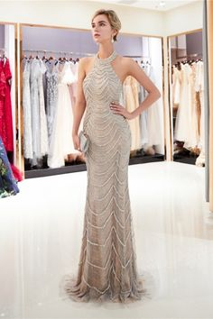 CEEWHY Halter Backless Sexy Evening Dress Plus Size Abendkleider Dubai Evening Gown Mermaid Evening Dresses Beaded Maxi Vestido. Beaded Prom Dress, Backless Prom Dresses, Mermaid Prom Dresses, Cheap Prom Dresses, Prom Party Dresses, Dresses For Sale, Mermaid Gown, Lace Mermaid, Graduation Dresses