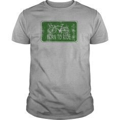Born to ride green sign - Tshirt