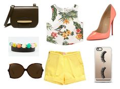 """""""Summer! 👜🌞🌳Mandes bracelets"""" by raminta-1 on Polyvore featuring MANGO, Christian Louboutin, Mulberry, Linda Farrow and Casetify"""
