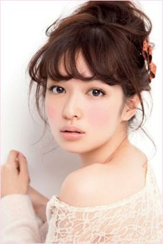 Erika Mori 森絵梨佳 # loving the overly flushed cheeks trend ! Bangs Updo, Hairstyles With Bangs, Most Beautiful Faces, Beautiful Asian Women, Beauty Makeup, Hair Makeup, Hair Beauty, Makeup Inspo, Japanese Beauty