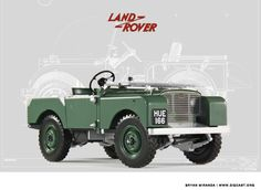 Minichamps 1948 Land Rover Land Rover diecast car