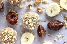 Кексы из овсяных хлопьев (геркулеса, овсянки), банана, инжира