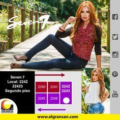 #MarcaDelDía: Seven Siete Jeans  Encuentra lo mejor en Jeans levanta cola, faldas, busos, braga, y gorras. Te esperamos. Solo en el #GranSan, locales: 2242-2243, cel: 321 3462502.  #ColombianoCompraColombiano #SoyCapaz de creer en mi país!
