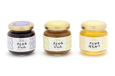 Jam Packaging, Luxury Packaging, Brand Packaging, Packaging Design, Jam Jar Labels, Food Labels, Honey Logo, Japanese Packaging, Bottles And Jars