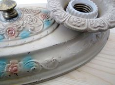 Vintage 1920's Tin Light Fixture by RedBessBonneyToo on Etsy, $15.00