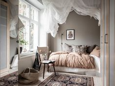 my scandinavian home: A Swedish Home With The Loveliest Earthy Blue Walls Home Bedroom, Bedroom Decor, Design Salon, Design Room, Scandinavian Bedroom, Scandinavian Apartment, New Room, Small Apartments, Room Inspiration