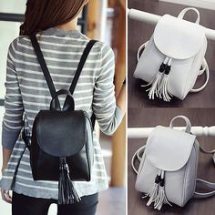 Faux Leather Mini Small Backpack Rucksack Travel Casual Purse Cute bag