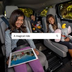 Mickey Mouse? ✔️  Dumbo? Check emoji ✔️  Comfortable seating for eight? ✔️  The new 2021 Honda Odyssey. The Official Vehicle of the Disneyland Resort. Honda Odyssey, Disneyland Resort, Rihanna, Mickey Mouse, Vehicle, Kids, Hair, Young Children