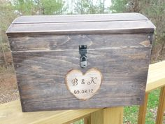 Extra Large Rustic Wedding Card Box
