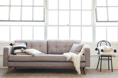 Frey Sofa, Grey Tweed