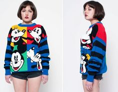 Mickey Mouse Color Block Sweater