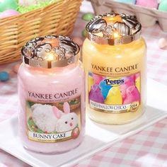 bunny cake and marshmallow chicks ~ yankee candle