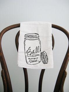 ball jar tea towel