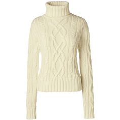 Lands' End Women's Cable Turtleneck Sweater - Drifter ($30) ❤ liked on Polyvore featuring tops, sweaters, shirts, turtleneck, ivory, long turtleneck sweater, turtleneck sweater, layering shirts, cable-knit sweater and layered sweater