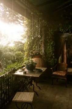 Overgrown porch  via FaerieMagazine on fb