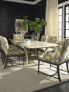 Vanguard Furniture - Our Products - V320S Chronos Side Chair dining room table dark walls
