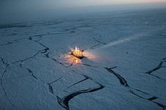 In order to track changes in sea ice, this Norwegian vessel drifted along with it for a period of 5 months.