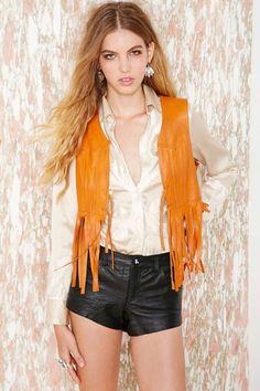 Vintage Rough Rider Leather Vest