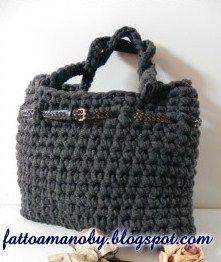 borsa di fettuccia in cotone