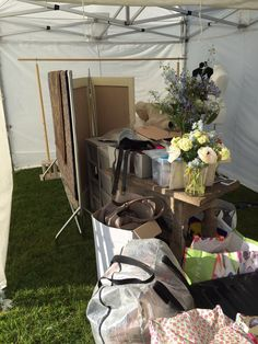 Unpacked, now to set up at the Herts Town and Country Show!
