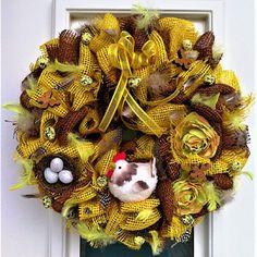 jarní věnec jutový Wreaths, Halloween, Fall, Home Decor, Autumn, Decoration Home, Door Wreaths, Fall Season, Deco Mesh Wreaths