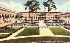 Inner Court of Ringling Art Museum - Sarasota,Florida Sarasota School, Sarasota Florida, Postcards For Sale, Old Postcards, Lido Beach Resort, Ringling Museum, Vintage Florida, Central Florida, Banff